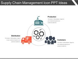Supply Chain Management Icon Ppt Ideas