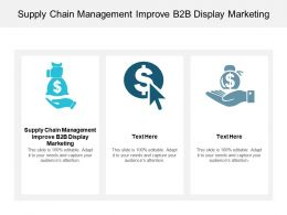 Supply Chain Management Improve B2b Display Marketing Ppt Powerpoint Presentation Cpb