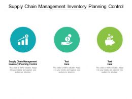 Supply Chain Management Inventory Planning Control Ppt Powerpoint Presentation Pictures Cpb