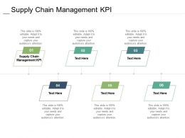 Supply Chain Management KPI Ppt Powerpoint Presentation Infographic Template Slideshow Cpb