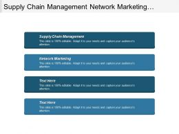 Supply Chain Management Network Marketing Compensation Management Network Marketing Cpb