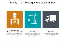 Supply Chain Management Opportunities Ppt Powerpoint Presentation Portfolio Styles Cpb