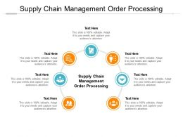 Supply Chain Management Order Processing Ppt Powerpoint Presentation Cpb