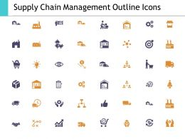 Supply Chain Management Outline Icons Ppt Powerpoint Presentation File Deck