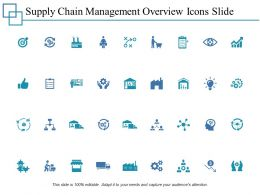 Supply Chain Management Overview Icons Slide 2 Ppt Powerpoint Presentation File Model