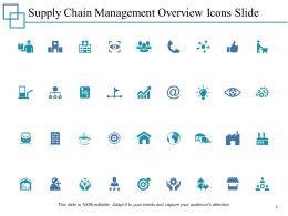 Supply Chain Management Overview Icons Slide Growth Ppt Powerpoint Presentation Summary