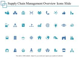 Supply Chain Management Overview Icons Slide Ppt Powerpoint Presentation File Outline