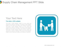 Supply Chain Management Ppt Slide