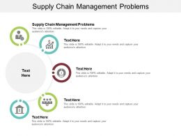 Supply Chain Management Problems Ppt Powerpoint Presentation Visual Aids Slides Cpb