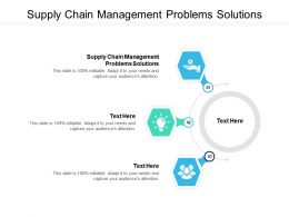 Supply Chain Management Problems Solutions Ppt Powerpoint Presentation Infographic Template Show Cpb