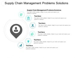 Supply Chain Management Problems Solutions Ppt Powerpoint Presentation Show Clipart Cpb