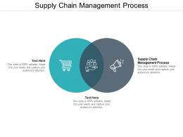 Supply Chain Management Process Ppt Powerpoint Presentation Professional Infographic Template Cpb