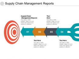 Supply Chain Management Reports Ppt Powerpoint Presentation Styles Objects Cpb