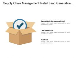 Supply Chain Management Retail Lead Generation Business Segmentation Cpb
