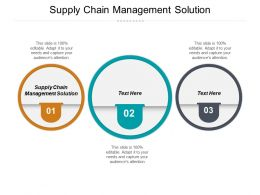 Supply Chain Management Solution Ppt Powerpoint Presentation Portfolio Good Cpb