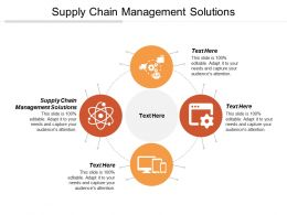 Supply Chain Management Solutions Ppt Powerpoint Presentation Gallery Clipart Images Cpb
