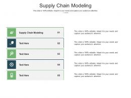 Supply Chain Modeling Ppt Powerpoint Presentation Show Gallery Cpb