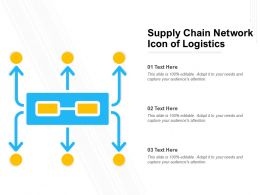 Supply Chain Network Icon Of Logistics