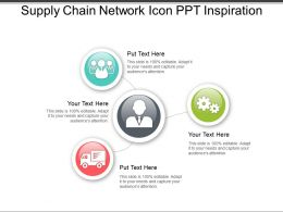 Supply Chain Network Icon Ppt Inspiration