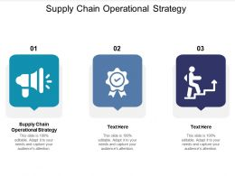 Supply Chain Operational Strategy Ppt Powerpoint Presentation Pictures Structure Cpb