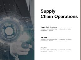 Supply Chain Operations Ppt Powerpoint Presentation Infographics Gridlines Cpb
