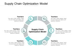 Supply Chain Optimization Model Ppt Powerpoint Presentation Infographic Infographics Cpb