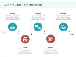 Supply Chain Optimization Orders Planning And Forecasting Of Supply Chain Management Ppt Topics