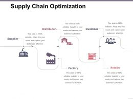 Supply Chain Optimization Ppt Samples Download