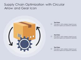 Supply Chain Optimization With Circular Arrow And Gear Icon