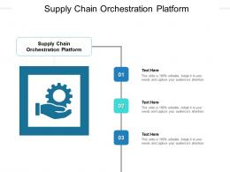 Supply Chain Orchestration Platform Ppt Powerpoint Presentation Professional Vector Cpb