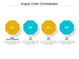 Supply Chain Orchestration Ppt Powerpoint Presentation Summary Structure Cpb