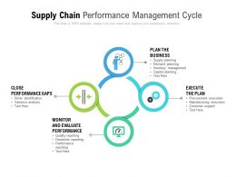 Supply Chain Performance Management Cycle
