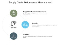 Supply Chain Performance Measurement Ppt Powerpoint Presentation Ideas Cpb