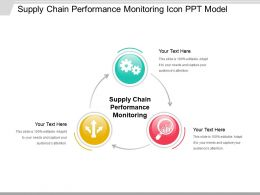 Supply Chain Performance Monitoring Icon Ppt Model