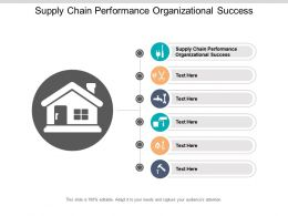Supply Chain Performance Organizational Success Ppt Powerpoint Presentation Icon Master Slide Cpb