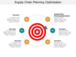 Supply Chain Planning Optimization Ppt Powerpoint Presentation Pictures Graphics Example Cpb