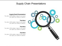 Supply Chain Presentations Ppt Powerpoint Presentation Visual Aids Outline Cpb