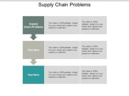 Supply Chain Problems Ppt Powerpoint Presentation Gallery Design Inspiration Cpb