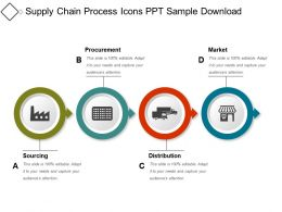 Supply Chain Process Icons Ppt Sample Download