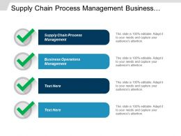 Supply Chain Process Management Business Operations Management Sales Management Cpb