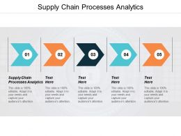 Supply Chain Processes Analytics Ppt Powerpoint Presentation Styles Deck Cpb