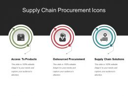 Supply Chain Procurement Icons Ppt Sample File