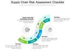 Supply Chain Risk Assessment Checklist Ppt Presentation Pictures Images Cpb