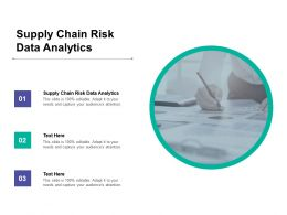 Supply Chain Risk Data Analytics Ppt Powerpoint Presentation Infographic Cpb