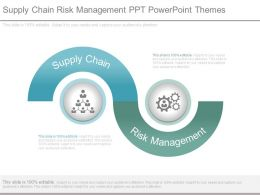 Supply Chain Risk Management Ppt Powerpoint Themes