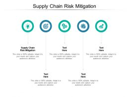 Supply Chain Risk Mitigation Ppt Powerpoint Presentation Summary Cpb