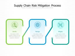 Supply Chain Risk Mitigation Process