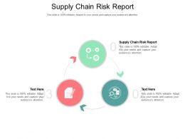 Supply Chain Risk Report Ppt Powerpoint Presentation Slides Graphics Download Cpb