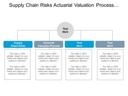 Supply Chain Risks Actuarial Valuation Process Crisis Management Organizational Management Cpb