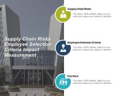 Supply Chain Risks Employee Selection Criteria Impact Measurement Cpb